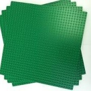 "LEGO Green Builder Base Plate 626 (10"" x 10"") lot of 4 base plates"