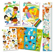 Fisher Price Little People Coloring and Activity Super Set -- Coloring Book Activity Pad Over 100 Stickers Crayons and Growth Chart