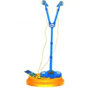 Planet of Toys MP3 Star Party dual Microphone With MP3 Function with Adjustable Heights for Kids Children.