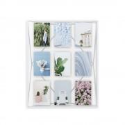 Рамка за 9 броя снимки UMBRA PRISMA GALLERY - цвят бял
