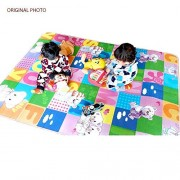 GLeo Kids & Baby Waterproof Learning Floor Mat with Roll Packing, Anti Skid, Double Sided Printed, Baby Play, Crawl Mat, BPA Free, Size:- 6 x 4.25 feet, Thickness : 10 mm.