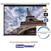 Screen Technics 100 Inch Diagonal Instalock Projector Screen Deluxe fabric HD 3D 4K Technology