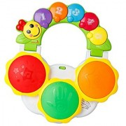 Happy Cherry Pre-School Multifunctional Hand-grip Pad Drum Eletrionic Luminous Tambourine Music Toy Early Learning Educa