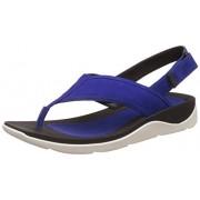 Clarks Women's Electric Blue Leather Fashion Sandals - 6 UK/India (39.5 EU)