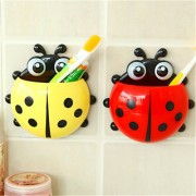 Cartoon Ladybird Toothpaste Toothbrush Holder with Suction Cups(Multicolor)