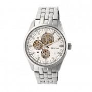 Heritor Automatic Stanley Semi-Skeleton Bracelet Watch - Silver HERHR6501