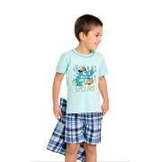 Damian skateboard gyerek pizsama, kék 110