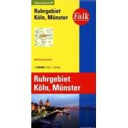 Wegenkaart - landkaart 07 Ruhrgebiet, Köln, Münster | Falk