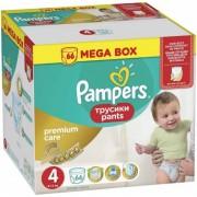 Scutece Pampers 4 Premium Care Pants, 8 - 14 kg (66)