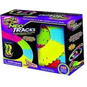 Mindscope Neon Glow Neo Tracks Glow in the Dark 160 Piece Track Expansion Pack Compatible with Twister Tracks