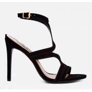 Steve Madden Women's Sidney Nubuck Heeled Sandals - Black - UK 7 - Black