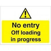 Unbranded Warning Sign Off Loading Fluted Board 45 x 60 cm