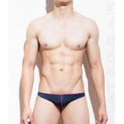 Mategear Shin Young Flat Front Extremely Sexy Mini Thong Underwear Navy 770402