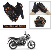 AutoStark Gloves KTM Bike Riding Gloves Orange and Black Riding Gloves Free Size For Suzuki Hayate