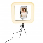 28cm 168-LED Smartphone Photo Square Ring Light Dimmable Photography Studio Lighting Lamp with Tripod