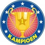Merkloos 25x Bierviltjes kampioenen trofee/prijs/bokaal van karton