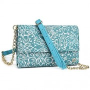Mint Green Paisley Weekender Crossbody Bag For Microsoft Lumia 950 5.2, 950 Xl 5.7, Lumia 640, Lumia 550, Lumia 540, Lumia 535, Nokia Lumia 830 | Cases And Covers