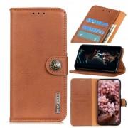Huawei Voor Huawei Honor Play 4T Pro Cowhide Texture PU + TPU Horizontal Flip Leather Case met Holder & Card Slots & Wallet(Brown)