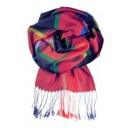 Amalfi luxusní hedvábný šál červená