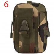 Louiwill Men & # 039; S Paquete De La Cintura Militar Del Ejército Bolsa De Camping Al Aire Libre Senderismo Bolsa Con Lazo De Cinturón, Camuflaje