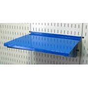 "Wall Control ASM-SH-1612 BU 12"" Deep Pegboard Shelf Assembly for Pegboard and Slotted Tool Board, Blue"