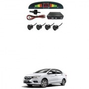 KunjZone Car Reverse Parking Sensor Black With LED Display Parking Sensor For Honda City ZX