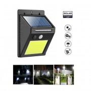 Solar 48 LED-es COB külső világítás mozgásérzékelővel
