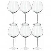 Royal Leerdam 6x Luxe wijnglazen voor rode wijn 750 ml Carre