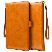 Smart Flip Cover met Hand Strap - iPad 9.7, iPad Air 2, iPad Air - Bruin