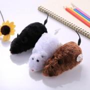 3 PCS Creative Gracioso Clockwork Spring Poder Peluche Ratón Rata Mascota Jugando Toy, Color Al Azar Entrega