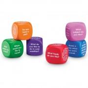 Cuburi pentru conversatii Learning Resources, 36 de intrebari, 6 - 10 ani