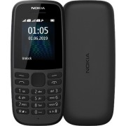 "GSM, NOKIA 105, 1.77"", Dual SIM, Black (16KIGB01A07)"