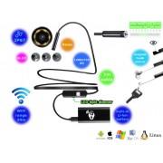 NTR ECAM14WIFI Vízálló endoszkóp kamera 1280x720 HD 2MP 9mm átmérő 6LED 30m WiFi + 1m kábel