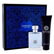 Versace Pour Homme set cadou Apa de toaleta 100 ml + gel de dus 150 ml pentru bărbați