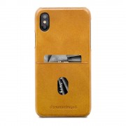 dbramante1928 Tune cc Leather Backcover iPhone X / XS Tan