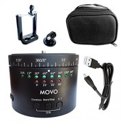 Movo Photo MTP-11 Motorized Panoramic Time Lapse Tripod Head with Variable Speed, Time and Direction with Built-in Rechargeable Battery - for DSLR Cameras, GoPro and Smartphones