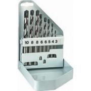 Set burghie HSS DIN 338 RN / 10 bucati / diametre 1 - 10 mm