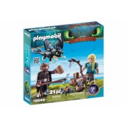 Playmobil Dragons - Hiccup Astrid si pui de dragon