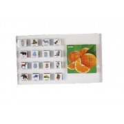 Ratna's educational Orange fruit blocks for kids to enhance their knowldege about different fruits and educational english blocks to improve vocabulary