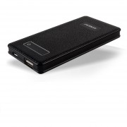 Batería Portátil PCBOX PCB-PB400 Potencia 4000mAh NEGRO USB2.0 SALIDA 5V 2.1A SIMIL CUERO