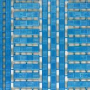 COBA Kunststoff-Bodenrost aus Polyethylen - LxB 1200 x 600 mm, VE 5 Stück - blau