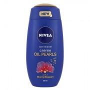 Nivea Creme Oil Pearls Cherry Blossom sprchový gel pro hebkou pokožku 250 ml pro ženy
