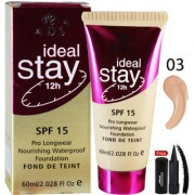 ADS ideal Stay Foundation SPF15 12Hr A1683-03 With Free Adbeni Kajal
