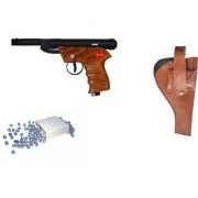 Prijam Air Gun Bsw-1 Model With Metal Body For Target Practice Combo Offer 300 Pellets With Cover Air Gun
