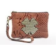 Sophia Visconti Dolly/Python Orange Cosmetic Bag(Orange)