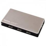 HAMA USB 4-портов хъб, USB 3.0 за ултрабуци/лаптопи, със захранване - HAMA-54544