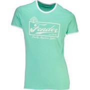 Fender T-Shirt Ringer Mint Green L
