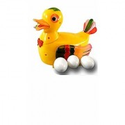 New 11 Egg Laying Duck Flashing Lights Colourful Funny Toy