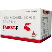 Asterik Lab Fairst-F Folic Acid N Zinc (100 Tablets) Food Suppliment For Healthy Living