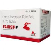 Asterik Lab Fairst-F Folic Acid N Zinc (100 Tablets) Food Suppliment For Healthy Living
